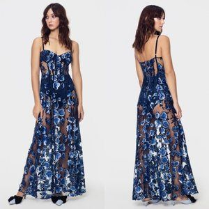NWT For Love & Lemons Embroidered Maxi Dress